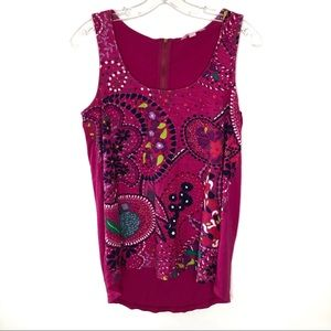 Lilly Pulitzer Pink Hart Tank Top Floral Med